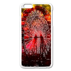 Vintage 1893 Chicago Worlds Fair Ferris Wheel Apple Iphone 6 Plus Enamel White Case by bloomingvinedesign