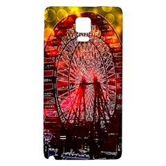 Vintage 1893 Chicago Worlds Fair Ferris Wheel Samsung Note 4 Hardshell Back Case by bloomingvinedesign