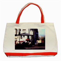 Vintage Paris Cafe Classic Tote Bag (red) by bloomingvinedesign