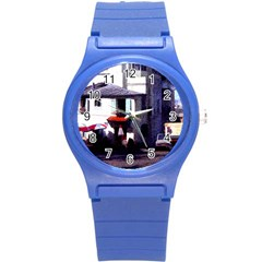 Vintage Paris Cafe Plastic Sport Watch (small) by bloomingvinedesign