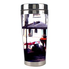 Vintage Paris Cafe Stainless Steel Travel Tumbler by bloomingvinedesign