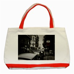 Vintage Paris Street Classic Tote Bag (red) by bloomingvinedesign
