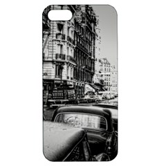 Vintage Paris Street Apple Iphone 5 Hardshell Case With Stand by bloomingvinedesign