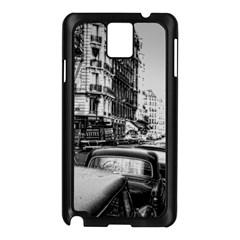 Vintage Paris Street Samsung Galaxy Note 3 N9005 Case (black)