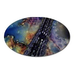 Vintage Eiffel Tower Abstract Magnet (oval) by bloomingvinedesign
