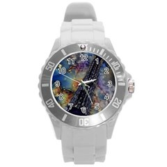 Vintage Eiffel Tower Abstract Plastic Sport Watch (Large) by bloomingvinedesign