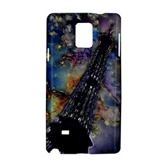 Vintage Eiffel Tower Abstract Samsung Galaxy Note 4 Hardshell Case by bloomingvinedesign