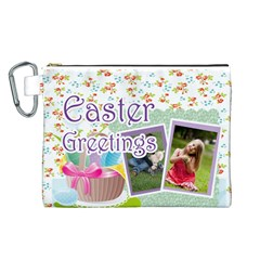 Easter By Easter   Canvas Cosmetic Bag (large)   R57hvuomnyf4   Www Artscow Com Front