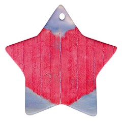 Pop Art Style Love Concept Star Ornament by dflcprints