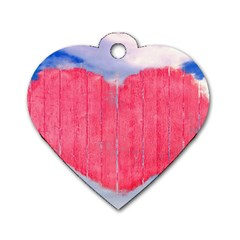Pop Art Style Love Concept Dog Tag Heart (two Sided) by dflcprints