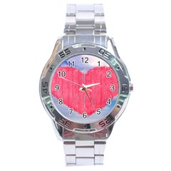 Pop Art Style Love Concept Stainless Steel Watch by dflcprints