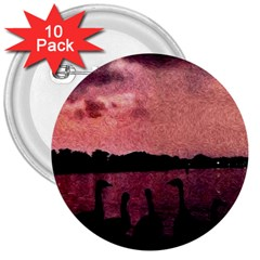 7 Geese At Sunset 3  Button (10 Pack) by bloomingvinedesign