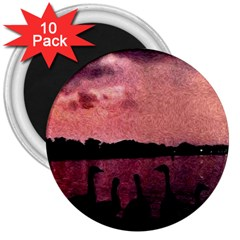7 Geese At Sunset 3  Button Magnet (10 Pack) by bloomingvinedesign