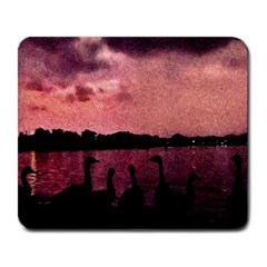 7 Geese At Sunset Large Mouse Pad (rectangle) by bloomingvinedesign