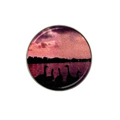 7 Geese At Sunset Golf Ball Marker 4 Pack (for Hat Clip) by bloomingvinedesign