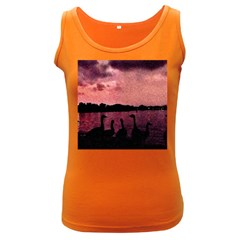 7 Geese At Sunset Women s Tank Top (dark Colored) by bloomingvinedesign
