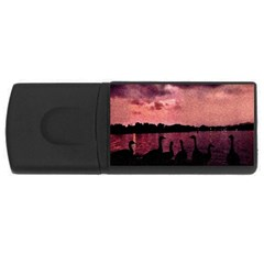 7 Geese At Sunset 4gb Usb Flash Drive (rectangle) by bloomingvinedesign