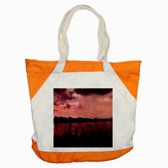 7 Geese At Sunset Accent Tote Bag by bloomingvinedesign