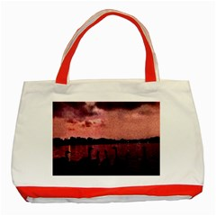 7 Geese At Sunset Classic Tote Bag (red) by bloomingvinedesign