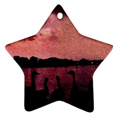 7 Geese At Sunset Star Ornament (two Sides) by bloomingvinedesign