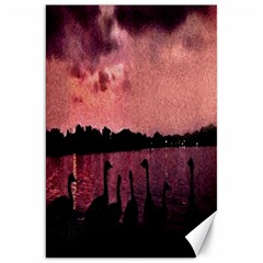 7 Geese At Sunset Canvas 20  X 30  (unframed) by bloomingvinedesign