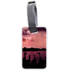 7 Geese At Sunset Luggage Tag (one Side) by bloomingvinedesign