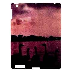 7 Geese At Sunset Apple Ipad 3/4 Hardshell Case by bloomingvinedesign