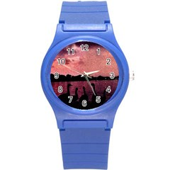 7 Geese At Sunset Plastic Sport Watch (small) by bloomingvinedesign