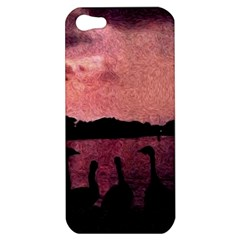 7 Geese At Sunset Apple Iphone 5 Hardshell Case by bloomingvinedesign