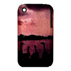 7 Geese At Sunset Apple Iphone 3g/3gs Hardshell Case (pc+silicone) by bloomingvinedesign