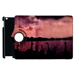 7 Geese At Sunset Apple Ipad 3/4 Flip 360 Case by bloomingvinedesign