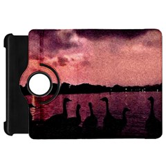 7 Geese At Sunset Kindle Fire Hd Flip 360 Case by bloomingvinedesign