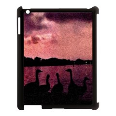 7 Geese At Sunset Apple Ipad 3/4 Case (black) by bloomingvinedesign