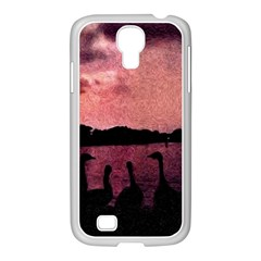 7 Geese At Sunset Samsung Galaxy S4 I9500/ I9505 Case (white) by bloomingvinedesign