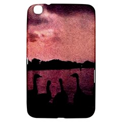 7 Geese At Sunset Samsung Galaxy Tab 3 (8 ) T3100 Hardshell Case  by bloomingvinedesign