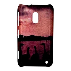 7 Geese At Sunset Nokia Lumia 620 Hardshell Case by bloomingvinedesign