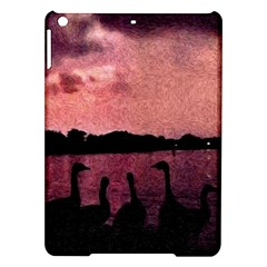 7 Geese At Sunset Apple Ipad Air Hardshell Case by bloomingvinedesign