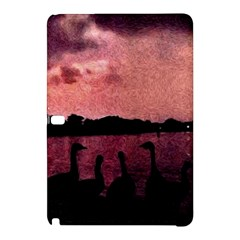 7 Geese At Sunset Samsung Galaxy Tab Pro 12 2 Hardshell Case by bloomingvinedesign