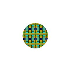 Different Shapes Pattern 1  Mini Button by LalyLauraFLM