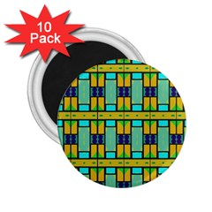 Different Shapes Pattern 2 25  Magnet (10 Pack) by LalyLauraFLM
