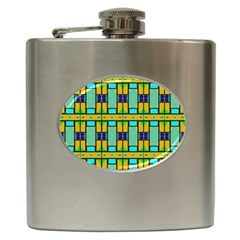 Different Shapes Pattern Hip Flask (6 Oz) by LalyLauraFLM