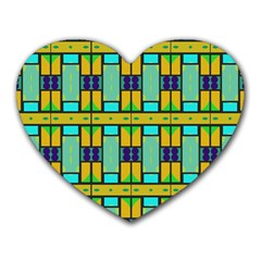 Different Shapes Pattern Heart Mousepad by LalyLauraFLM