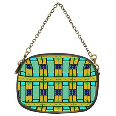 Different Shapes Pattern Chain Purse (two Sides) by LalyLauraFLM