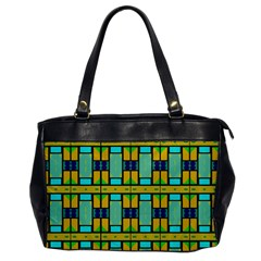 Different Shapes Pattern Oversize Office Handbag (one Side) by LalyLauraFLM