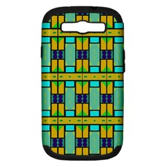 Different Shapes Pattern Samsung Galaxy S Iii Hardshell Case (pc+silicone)
