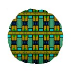 Different shapes pattern 15  Premium Round Cushion  Front