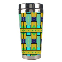 Different Shapes Pattern Stainless Steel Travel Tumbler by LalyLauraFLM