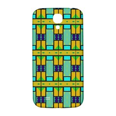 Different Shapes Pattern Samsung Galaxy S4 I9500/i9505  Hardshell Back Case by LalyLauraFLM