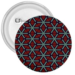 Cubes Pattern Abstract Design 3  Button by LalyLauraFLM