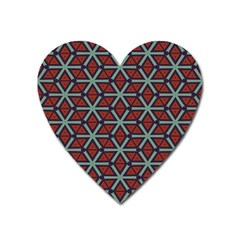 Cubes Pattern Abstract Design Magnet (heart) by LalyLauraFLM